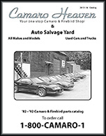 Camaro Heaven Catalog for 3rd Generation Camaro & Firebird parts
